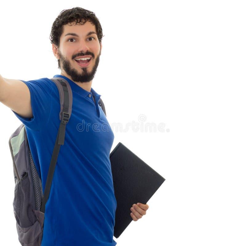 Selfie van student royalty-vrije stock afbeelding