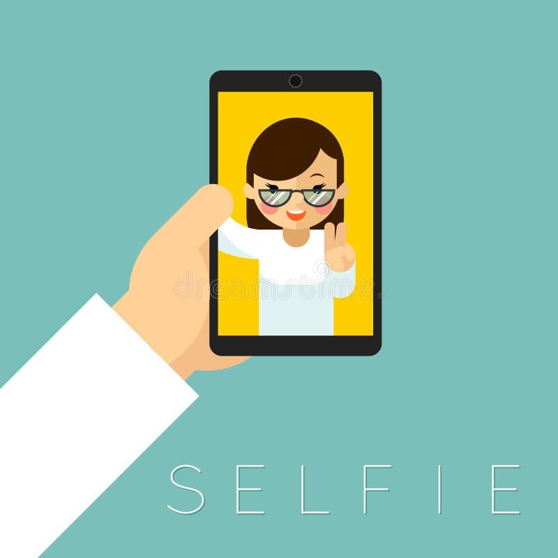 Selfieaffiche royalty-vrije illustratie