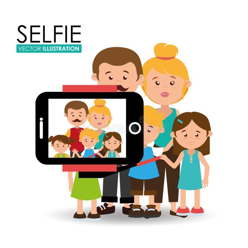 Selfieontwerp, vectorillustratie stock illustratie