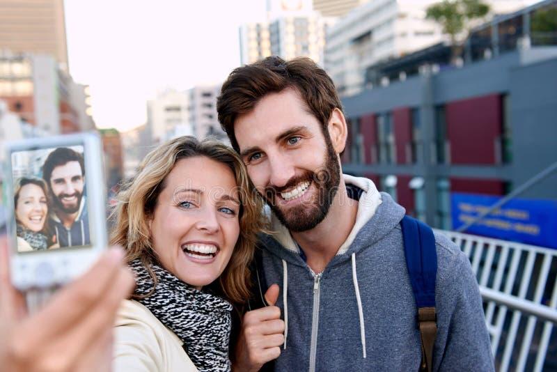 Selfiepret royalty-vrije stock fotografie