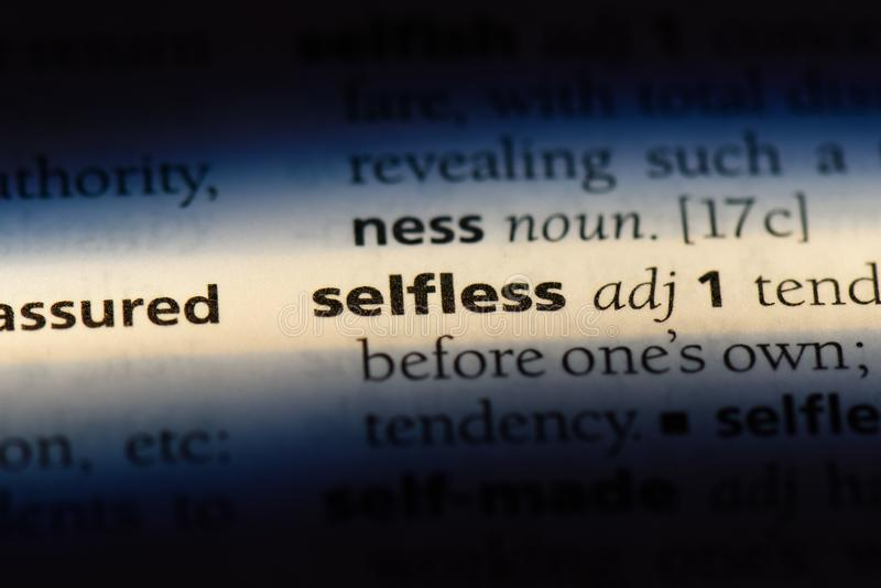 selfless foto de archivo