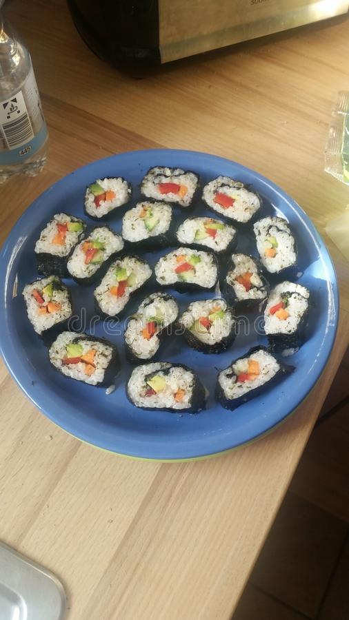 Selfmade Sushi royalty free stock photography