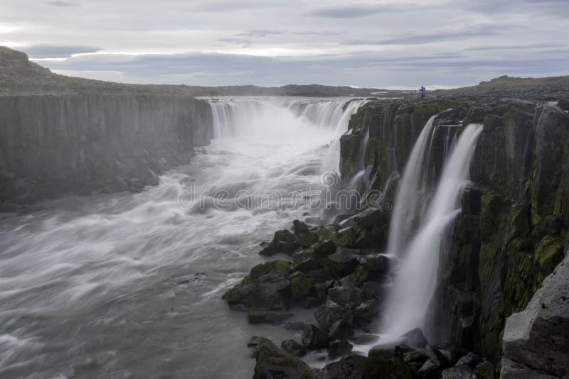 Selfosswaterval in het nationale park van Jokulsargljufur, IJsland royalty-vrije stock fotografie