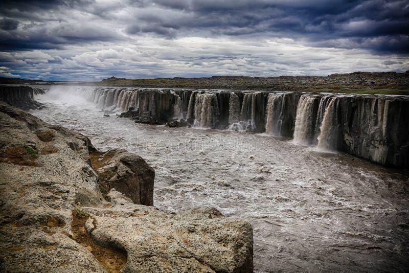 Selfosswaterval in IJsland stock afbeelding