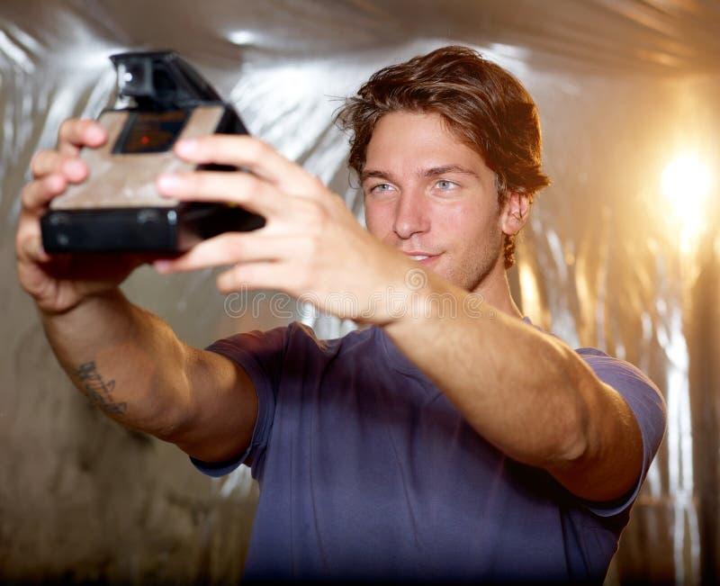 Download Selfportraitkort fotografering för bildbyråer. Bild av livsstil - 27286893
