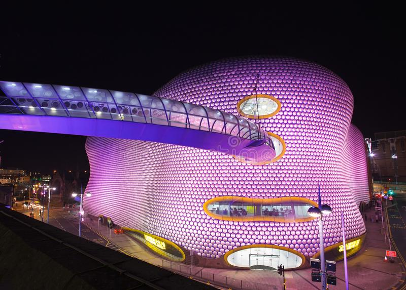 Selfridges Birmingham przy nocą 12 2012 Październik fotografia royalty free