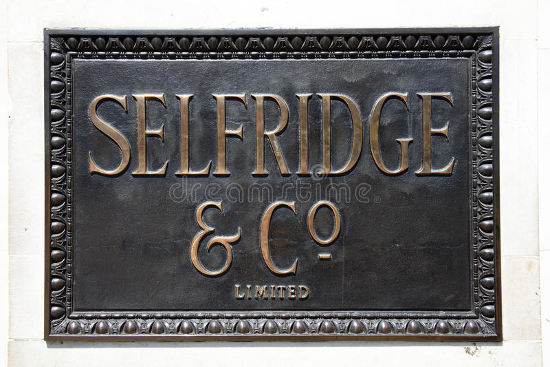 Download Selfridges Bronze sign editorial photography. Image of centre - 19425307