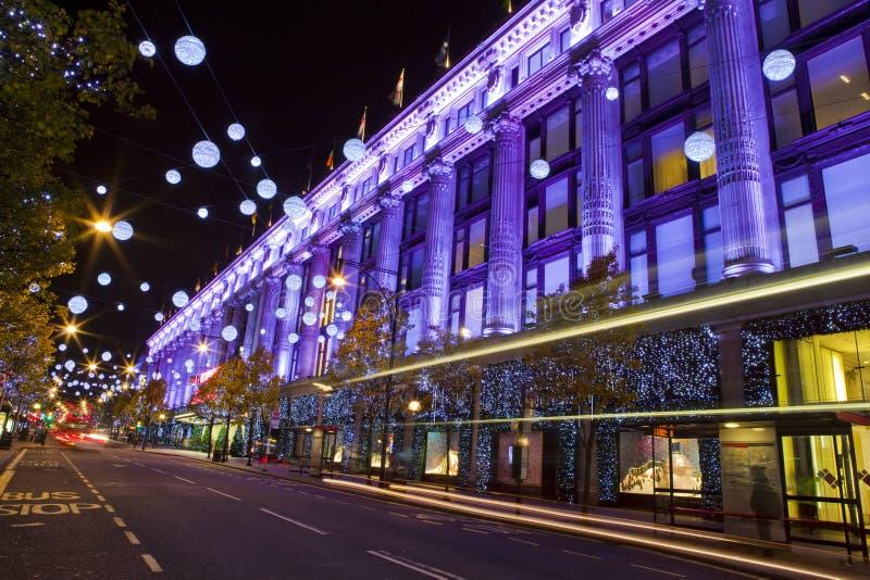 Selfridges in Londen stock afbeelding