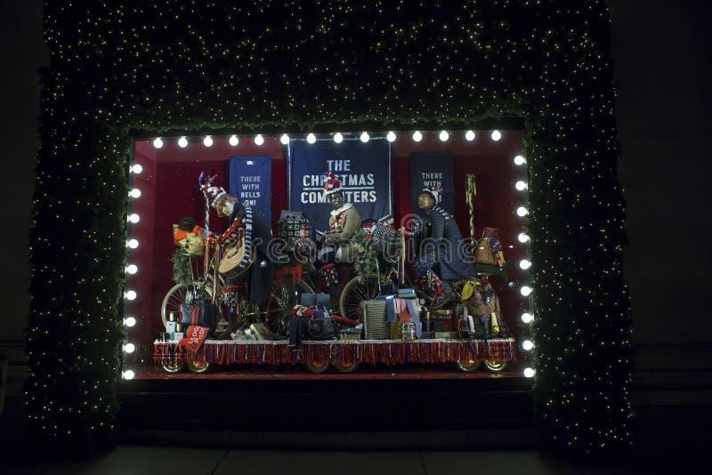 Selfridges, via di Oxford, Londra, decorata per il Natale ed i nuovo 2018 anni fotografia stock