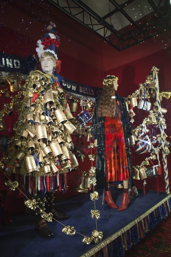 Selfridges, via di Oxford, Londra, decorata per il Natale ed i nuovo 2018 anni immagini stock