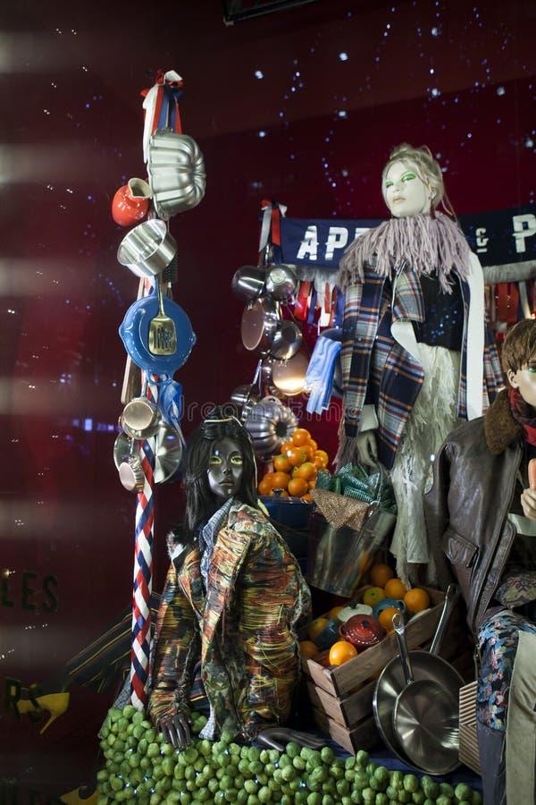 Selfridges, via di Oxford, Londra, decorata per il Natale ed i nuovo 2018 anni immagini stock libere da diritti