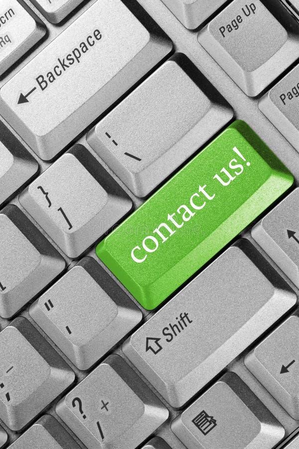 Seli metta in contatto con! fotografia stock