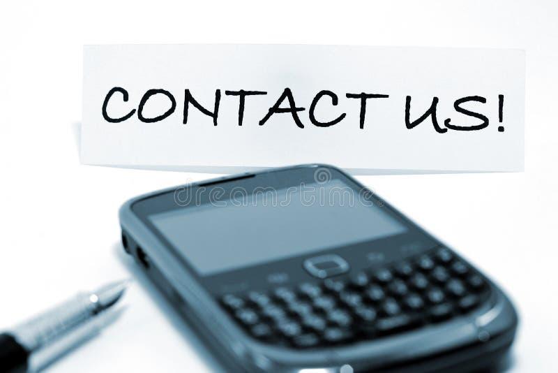 Seli metta in contatto con! fotografie stock