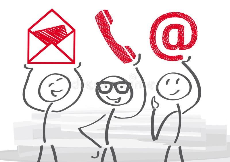 Seli metta in contatto con illustrazione di stock