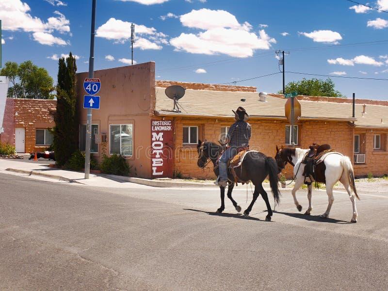 Seligman, Route 66, Arizona-Touristenattraktion, USA lizenzfreies stockbild