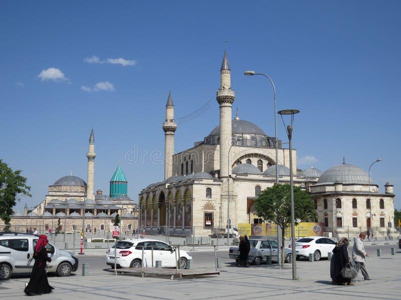Selimiye是一个半球形的清真寺建造在苏丹塞利姆二世下在1566和1574之间 免版税库存图片