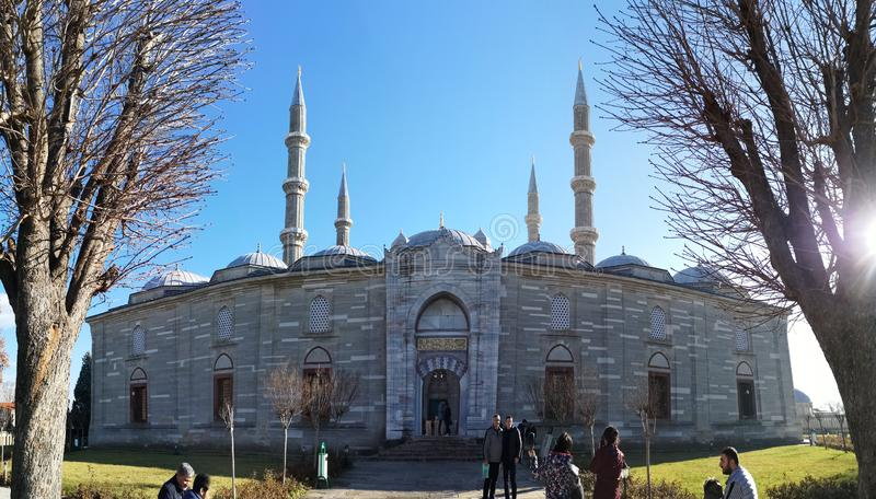 Selimiye清真寺在爱迪尔内,土耳其 库存图片