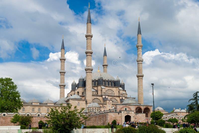 Selimiye清真寺在爱迪尔内,土耳其 图库摄影