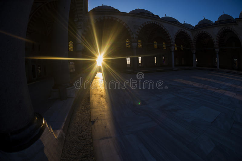 Selimiye-Moschee Fisheye stockfotografie
