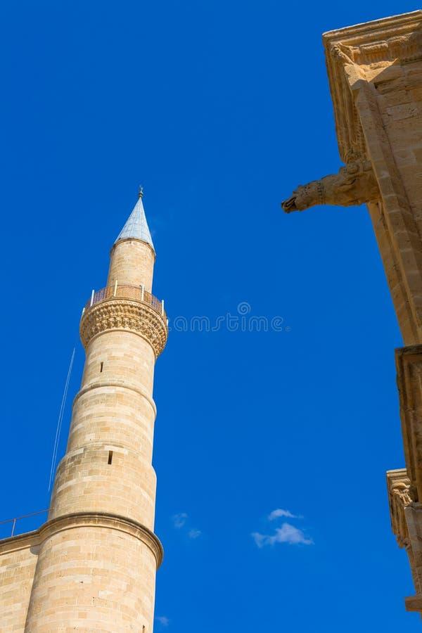 Selimiye moské, förr helgonSophia domkyrka, norr Nicosia, nordliga Cypern fotografering för bildbyråer