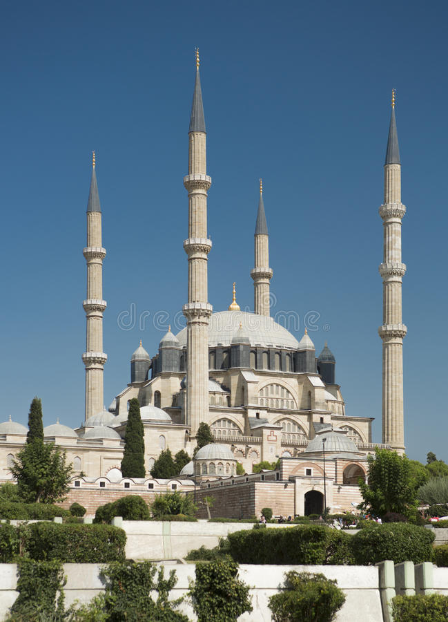 Selimiye moské i Edirne royaltyfri fotografi