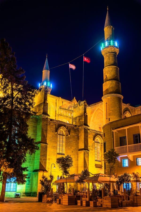 Selimiye moské i Nicosia - Cypern royaltyfria foton
