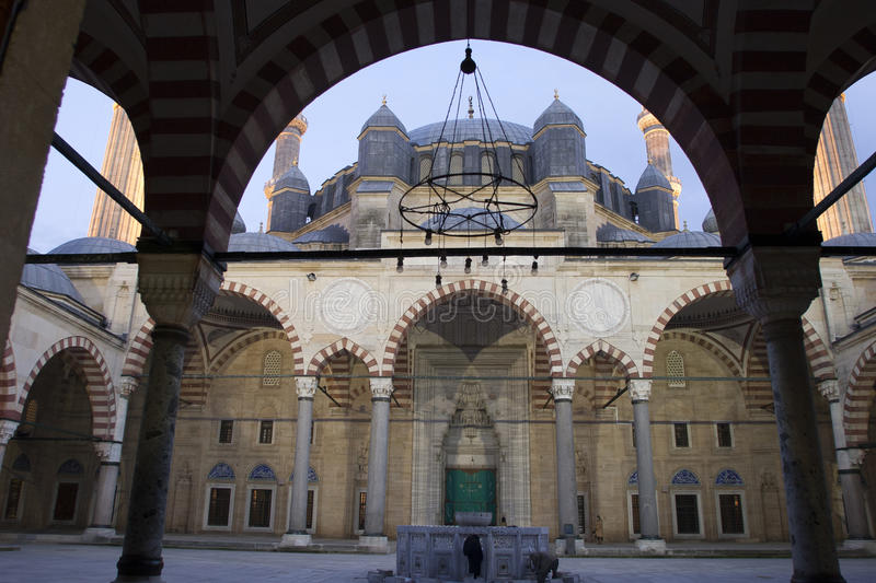 Selimiye Mosque / Edirne / Turkey. Classical Ottoman Mosque Architecture : Selimiye, Edirne stock photo