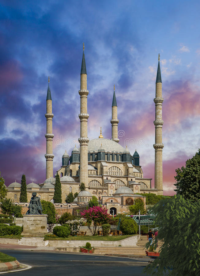 Selimiye Mosque. In Edirne Turkey is one of the finest examples of Ottoman architecture royalty free stock photography