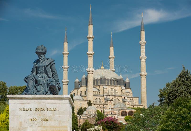 Selimiyemoskee in Edirne stock afbeeldingen