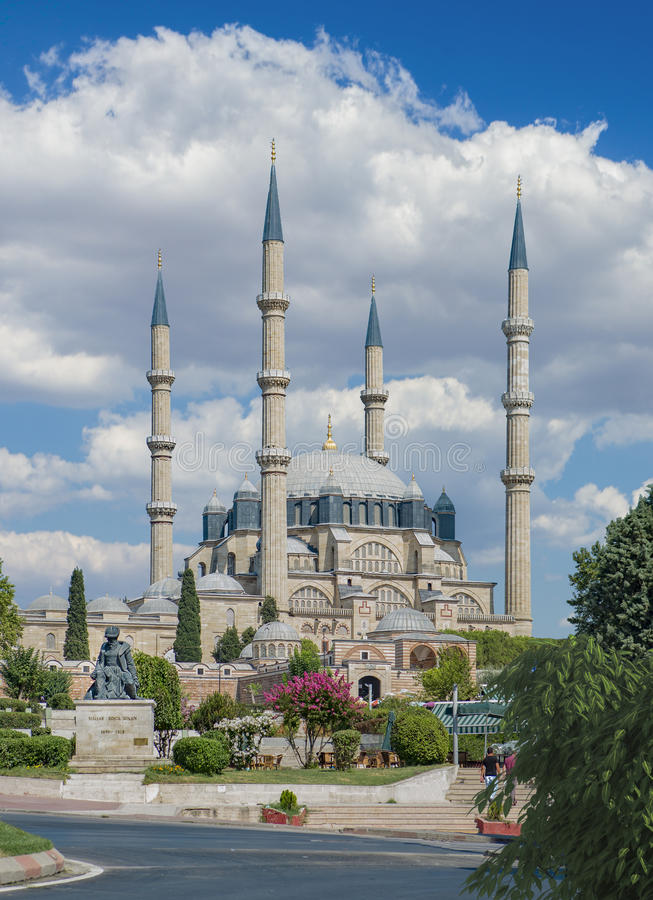 Selimiyemoskee in Edirne stock foto