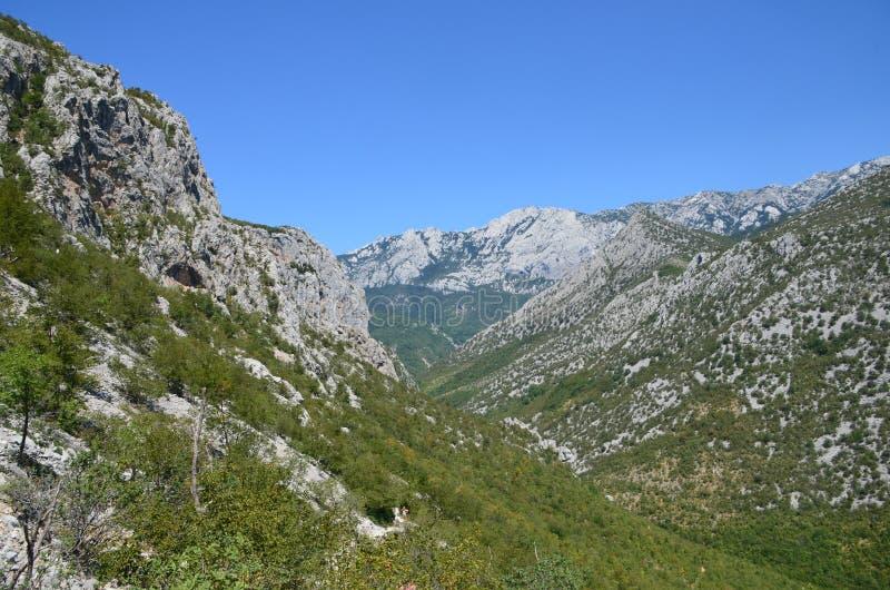 Selina, Croácia, montanha, Paklenica foto de stock
