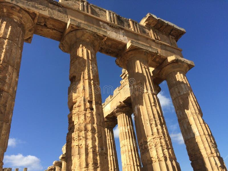 Selinunte tempel av Hera royaltyfri bild