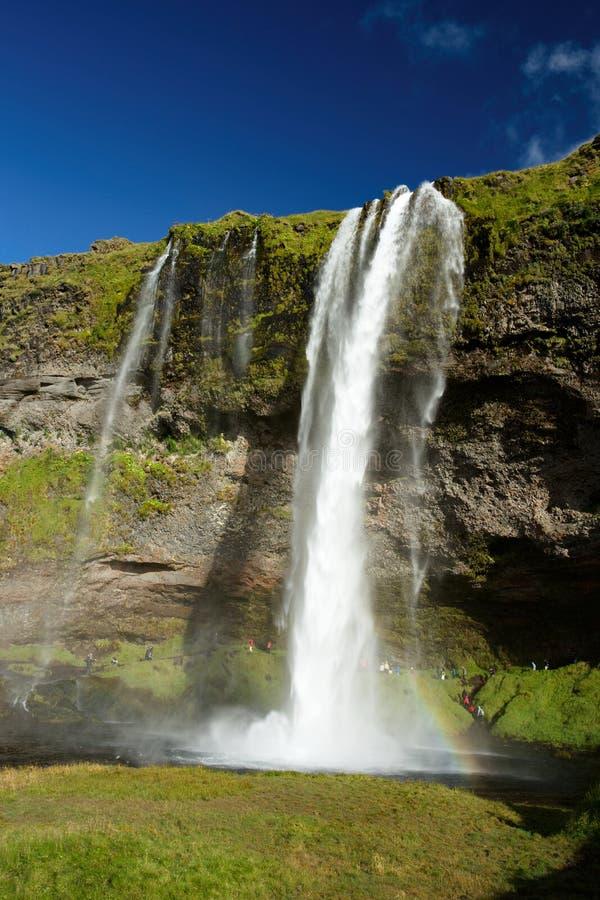 Seljalandfoss vattenfall i Island royaltyfri fotografi