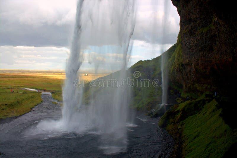Seljalandfoss vattenfall på Island royaltyfri fotografi