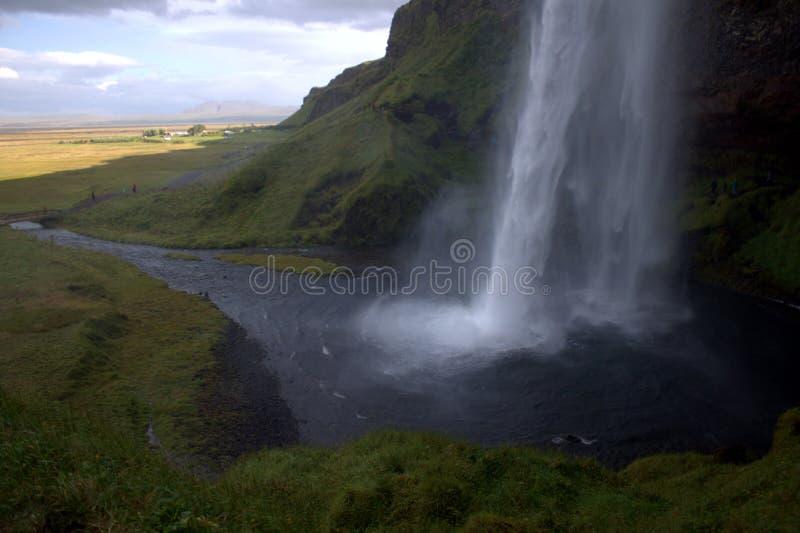 Seljalandfoss vattenfall på Island arkivfoton