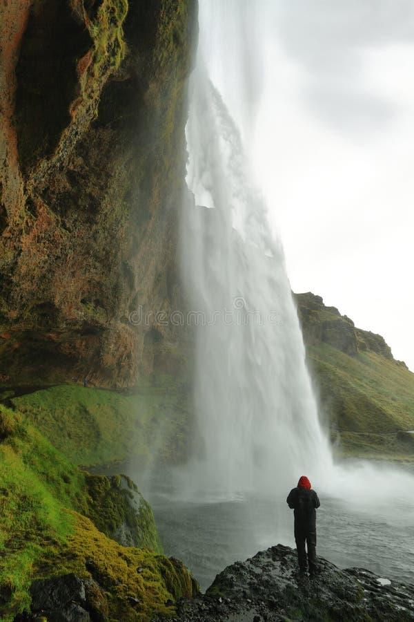 Seljalandfosswaterval stock afbeeldingen