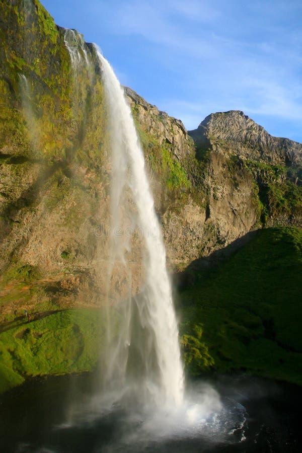 Seljalandsfoss瀑布在冰岛 库存照片