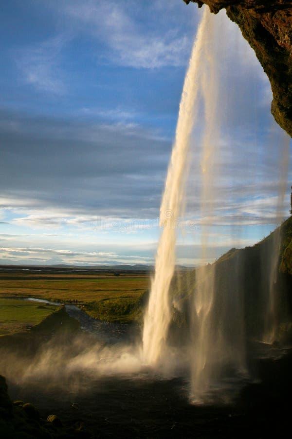 Seljalandsfoss瀑布在冰岛 图库摄影