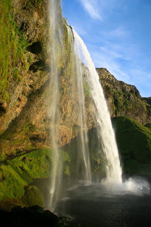 Seljalandsfoss瀑布在冰岛 免版税库存照片