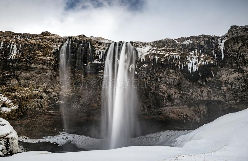 Seljalandsfoss siklawa obrazy royalty free