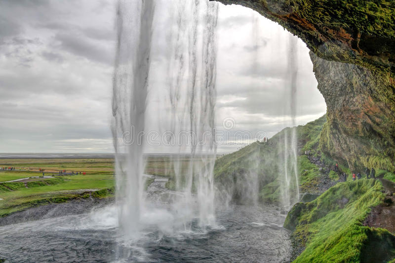 Seljalandsfoss waterfall in Iceland royalty free stock photos