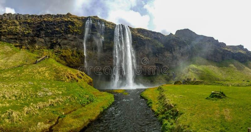 Seljlandfoss i Island fotografering för bildbyråer