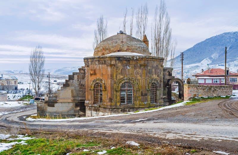 Seljuk清真寺在村庄 图库摄影