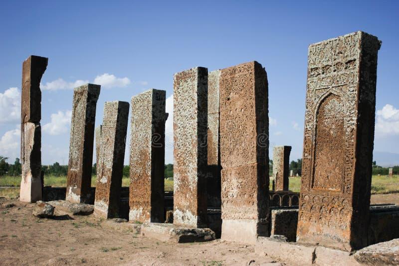 Seljuk kyrkogård av Ahlat royaltyfria foton