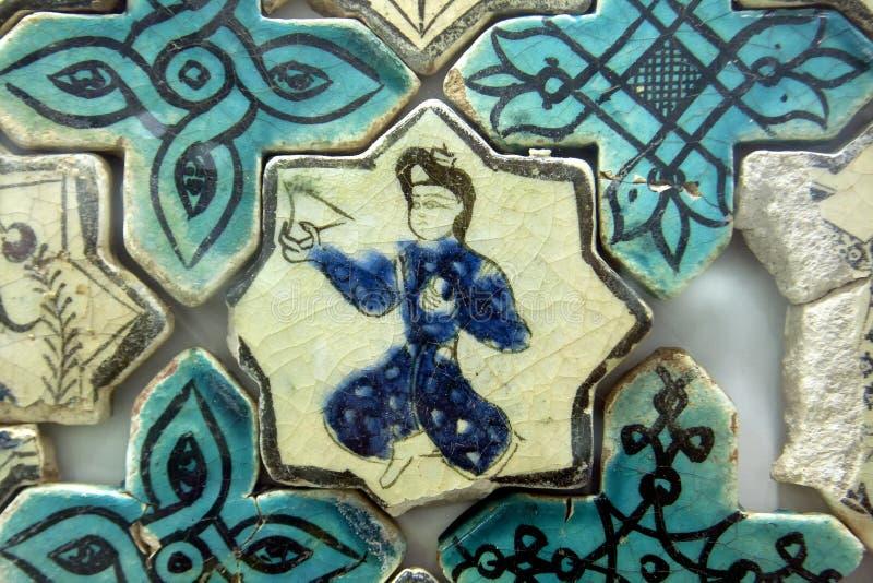 Seljuk tegelplatta, Turkiet arkivbild