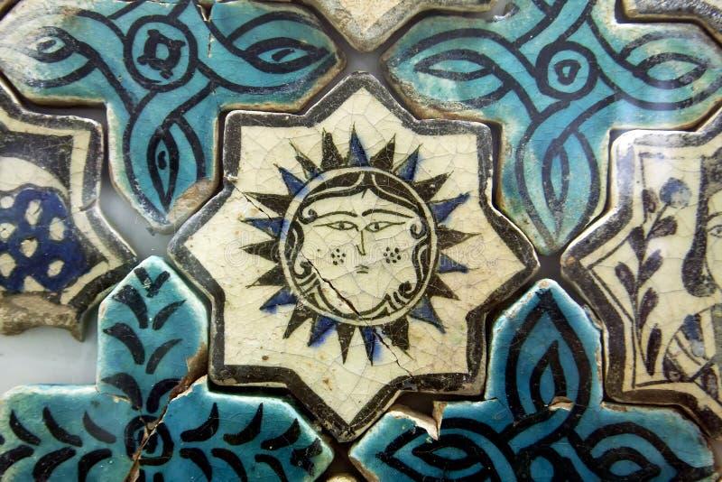 Seljuk tegelplatta, Turkiet royaltyfria foton