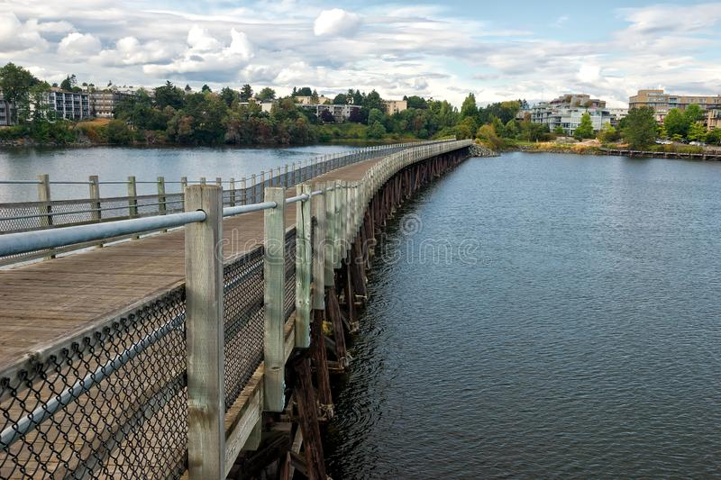 Selkirk Trestle near downtown Victoria BC, on Vancouver Island stock photography