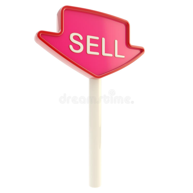 Sell Banner Plate On A Stick Isolated Stock Photos