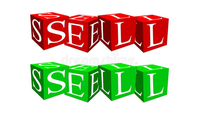 Download Sell of cubes stock illustration. Illustration of percent - 21350554