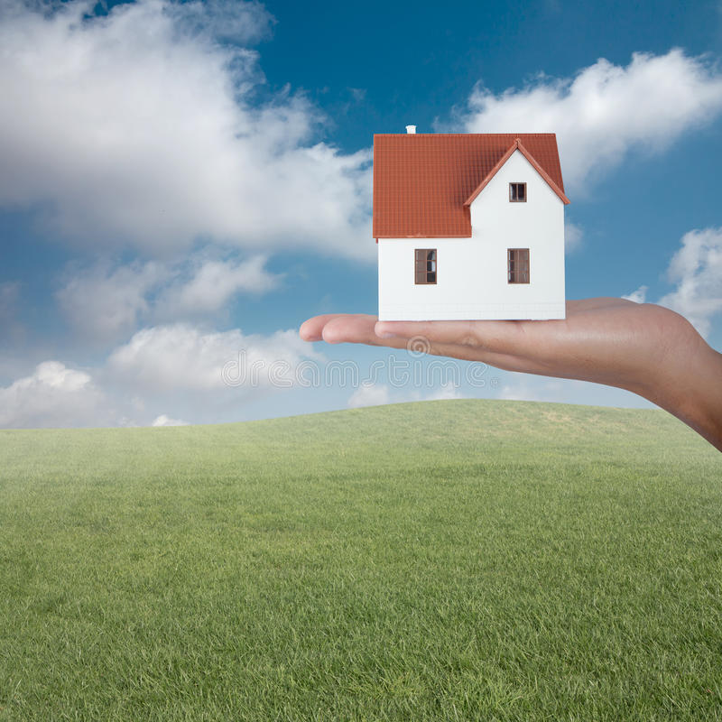Sell a house royalty free stock photography